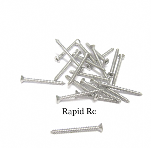 2.2mm x 25mm Stainless steel Counter Sunk Phillips Head Self Tapping screw